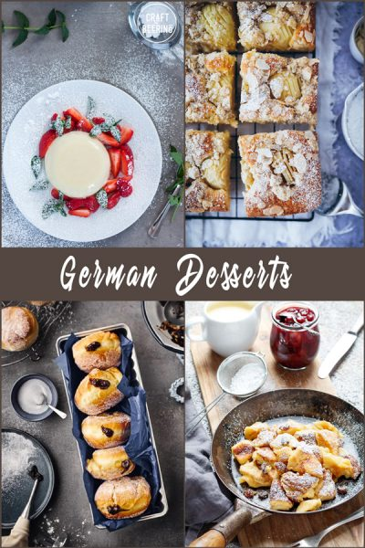 German desserts - an image grid showign four very popular ones.