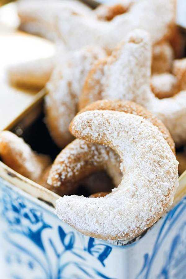 Vanilla horn cookies