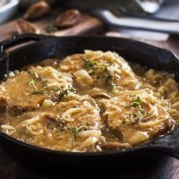 Braised Pork Chops with Ale and Onions
