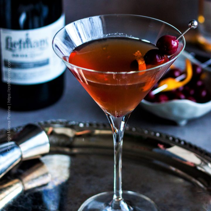Manhattan Cocktail with Kriek