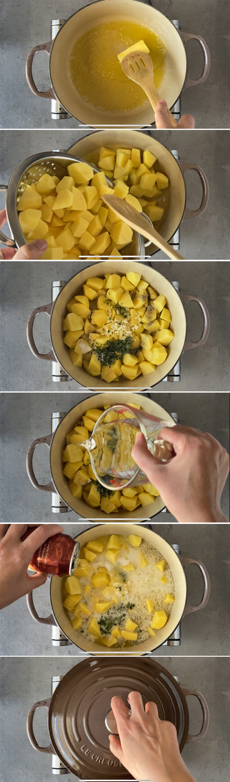 Steps to make beer potatoes 1