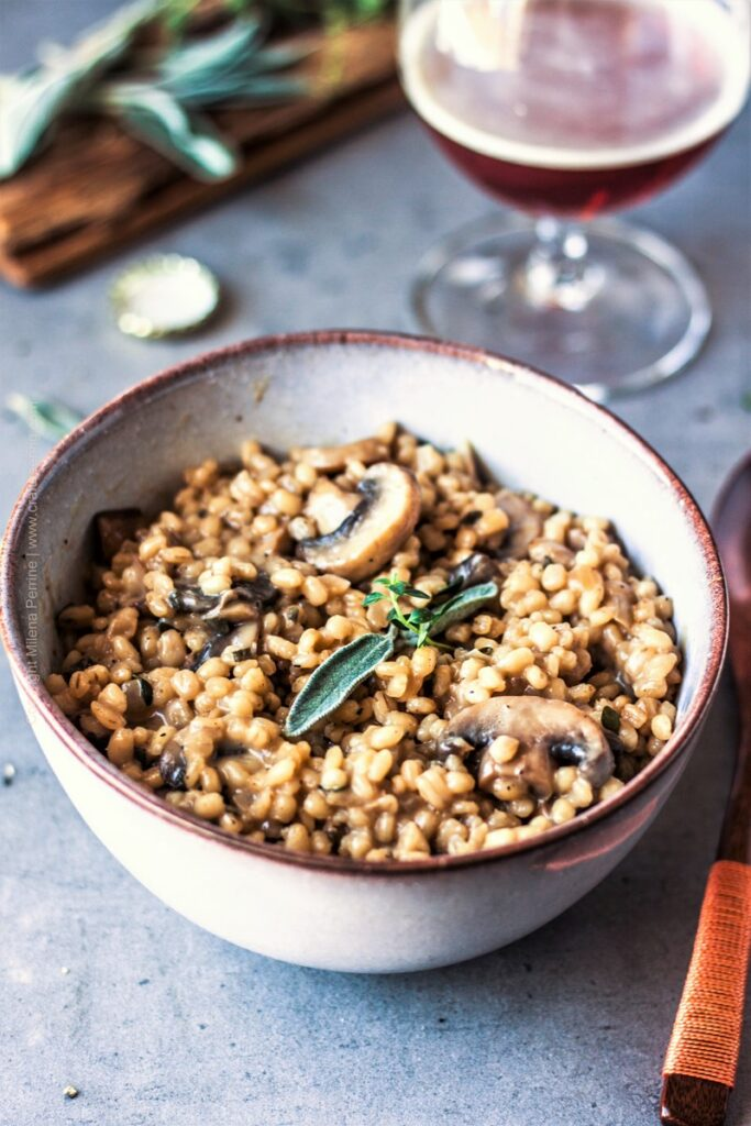 Orzotto with Mushrooms & Doppelbock