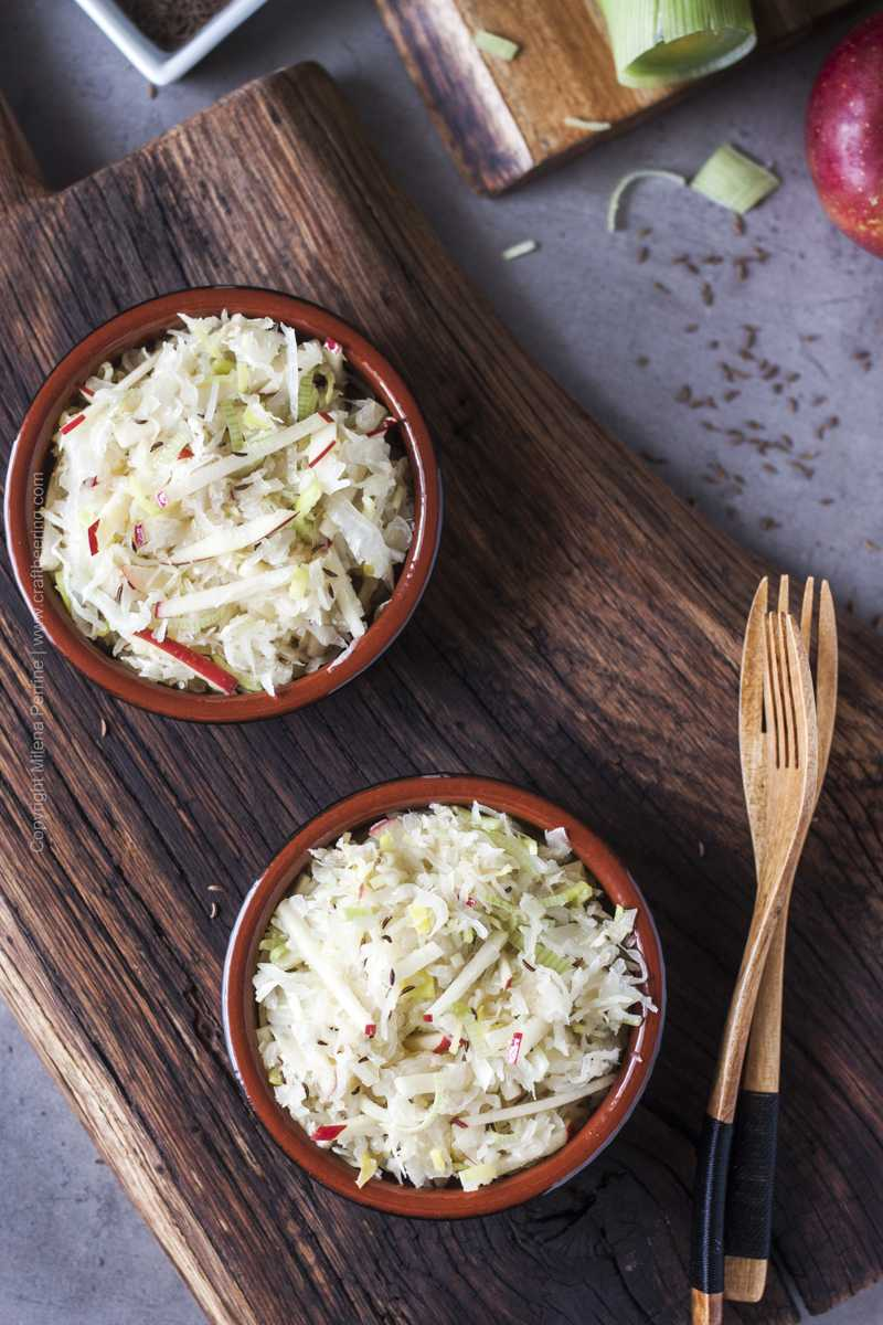Probiotic rich sauerkraut salad