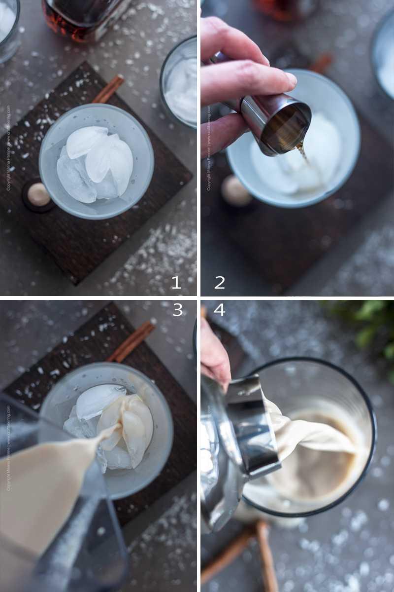 Steps to serve coquito