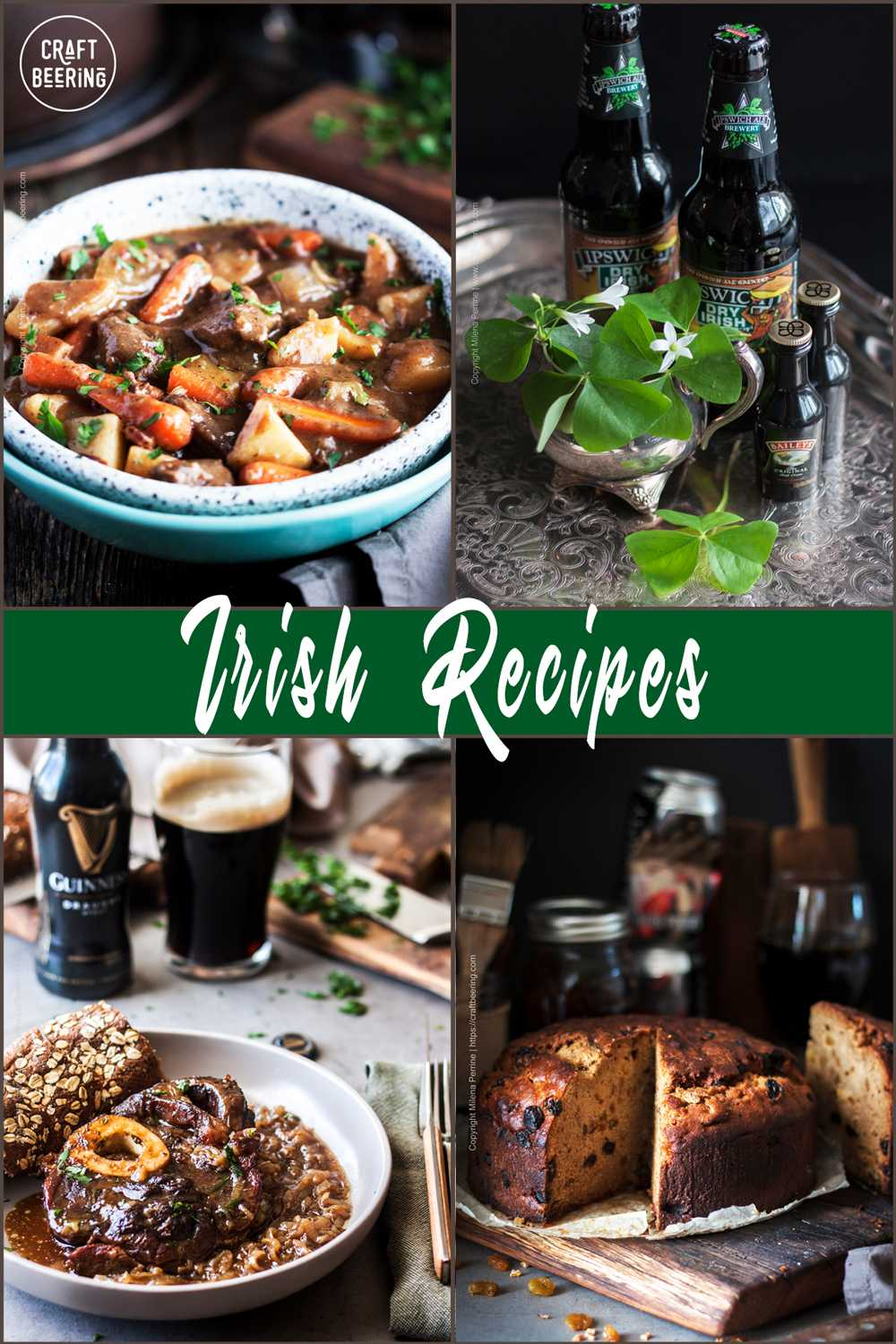 Irish recipes - from starters to desserts, cocktails included