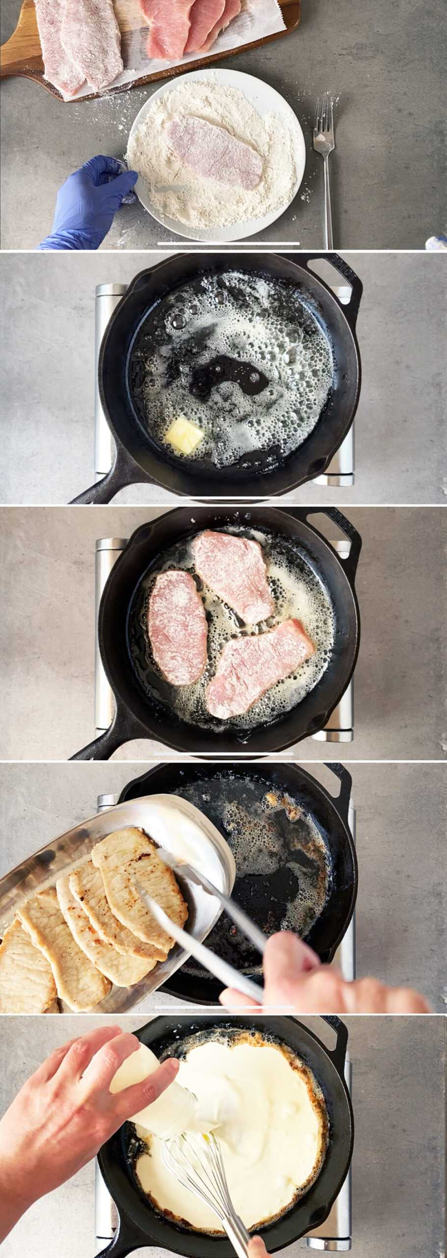 How to cook thin pork chops on the stove - pan sear method