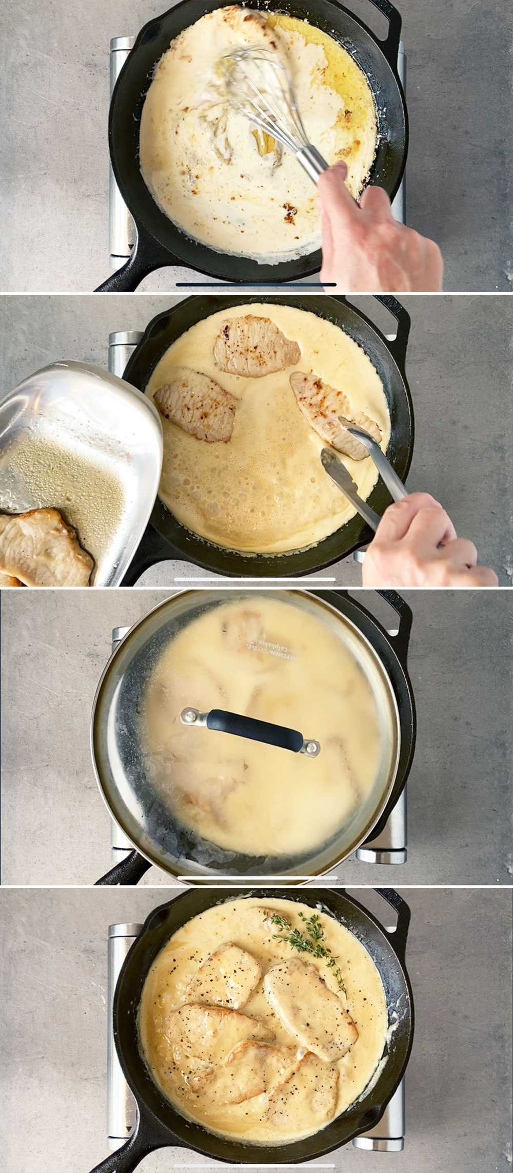 How to cook thin pork chops on the stove part 2 - making a pan sauce.