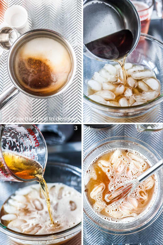 Step by step process to make beer brine.