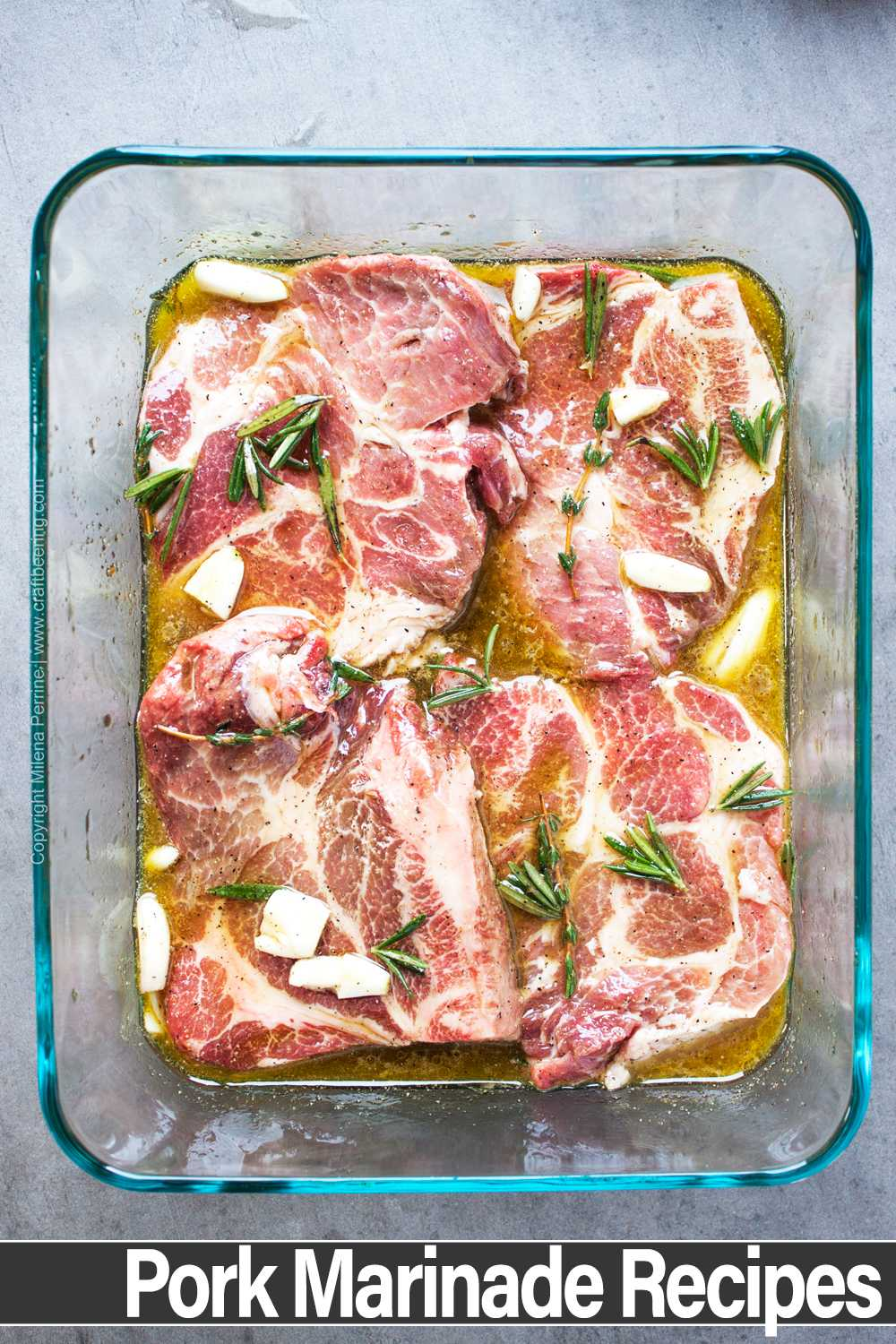 Pork marinade recipe collection and tips on how to execute them safely.