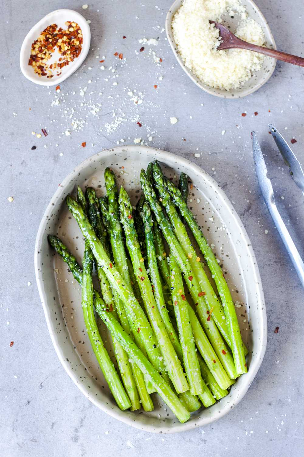 Perfectly cooked skillet asparagus.
