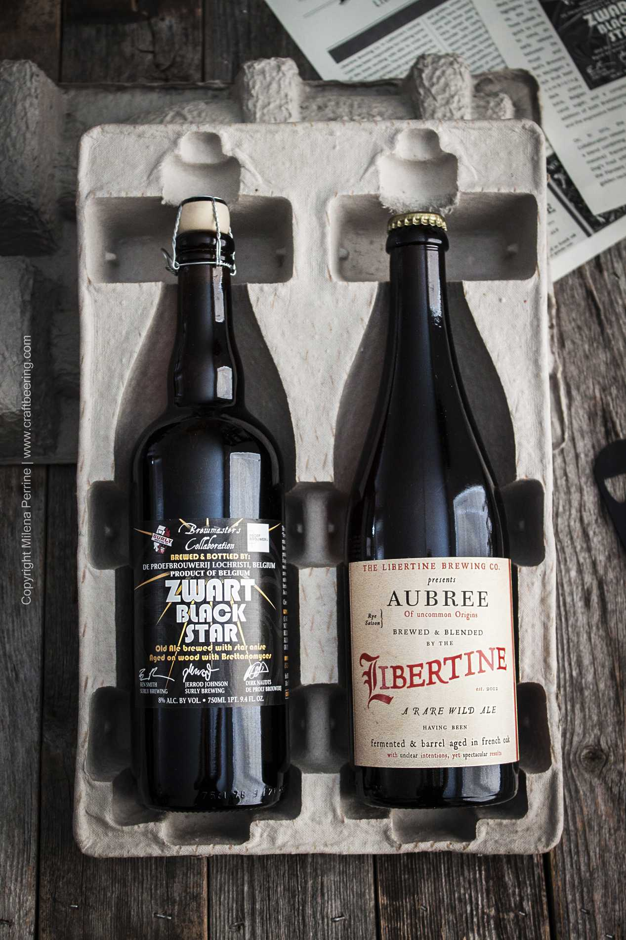 Typical brews from the Rare Beer Club - unique, limited edition beers.