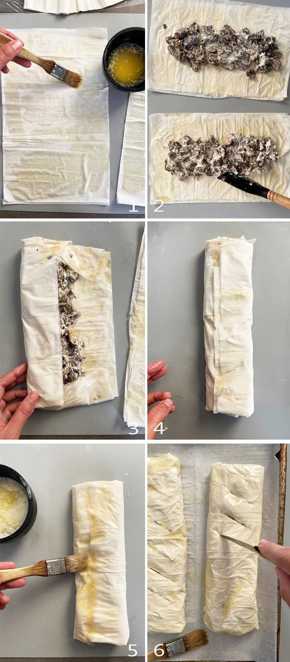 How to fold savory strudel