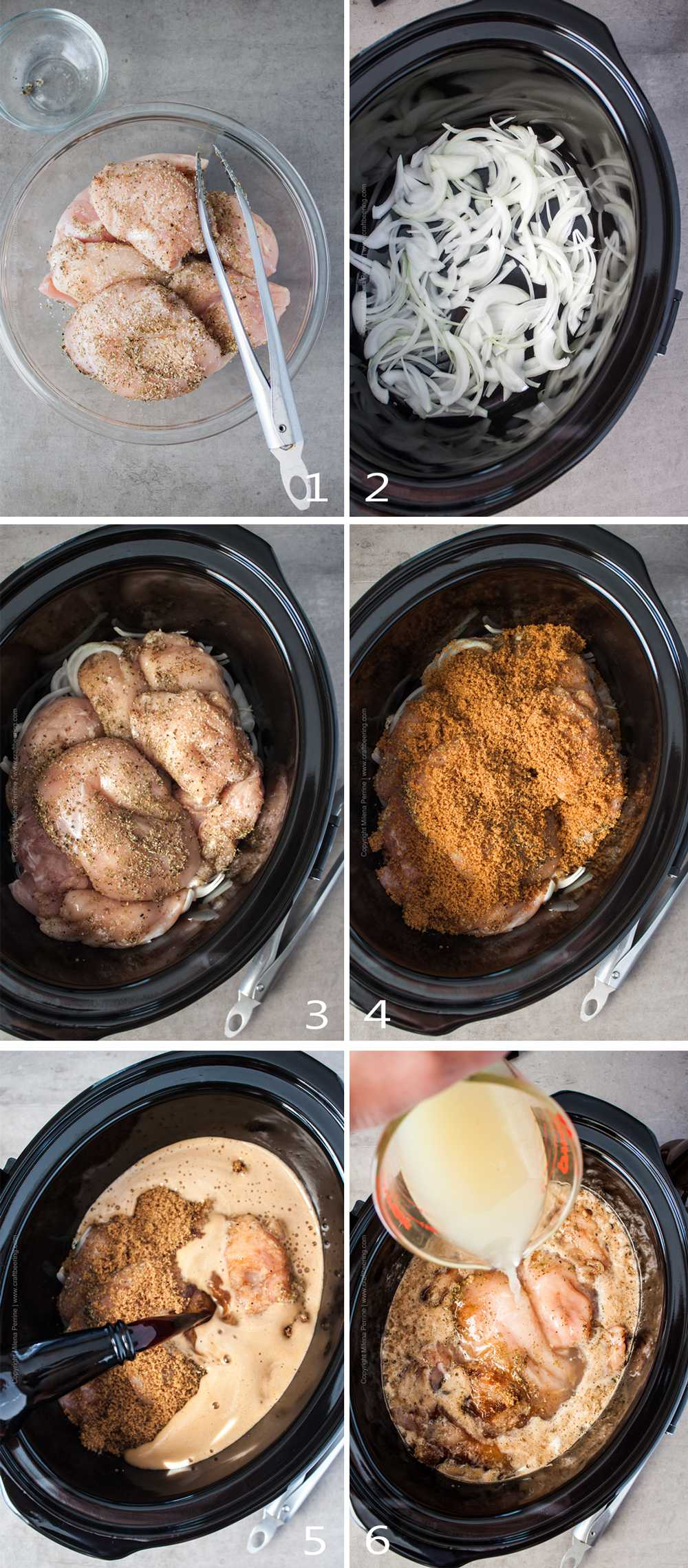 How to make slow cooker beer shredded chicken.