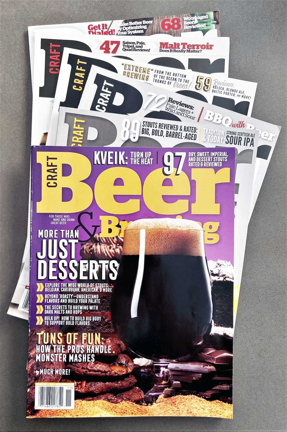 Stack of Craft Beer and Brewing magazines - random issues.