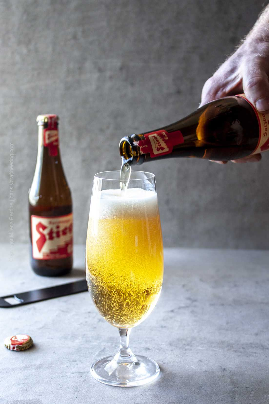 Austrian lager, Stiegl, from the international beer club.