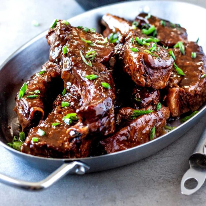 Country style ribs braised with stout, possibly the best beer to braise ribs with.