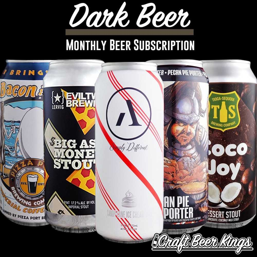 Example beer subscription box from Craft Beer Kings