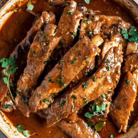 The Best Braised Spare Ribs (with Dark Beer Gravy)