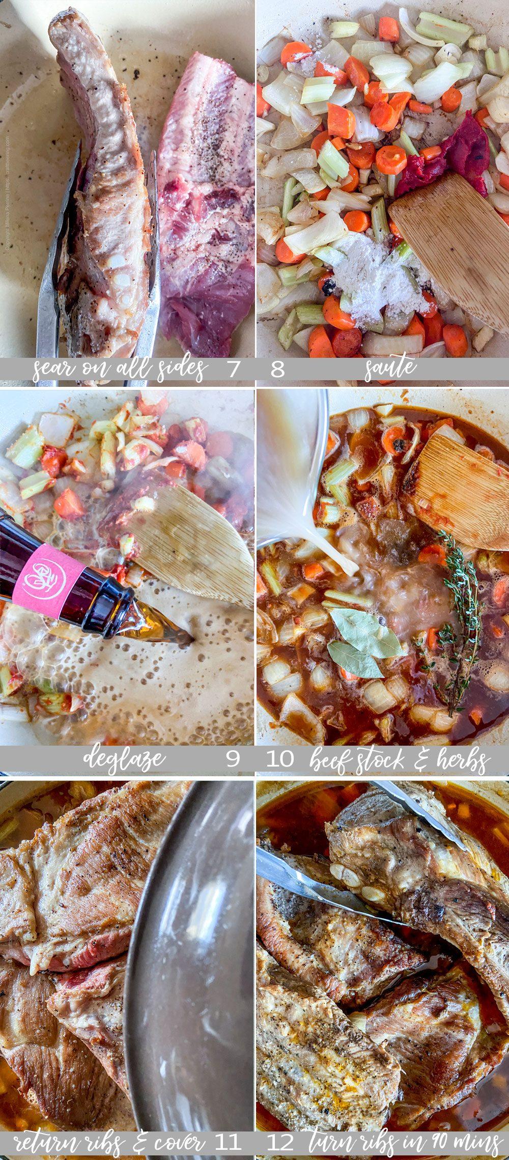 Step by step how to braise pork spare ribs