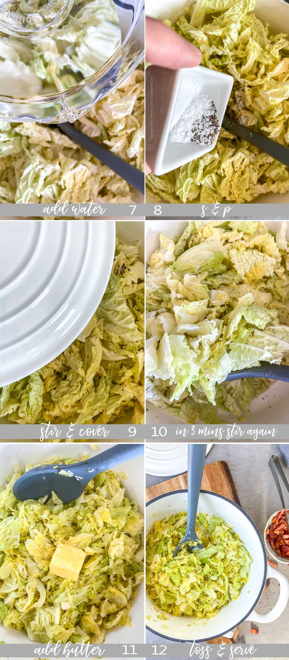 How to make buttered cabbage with Savoy - process pictures, part 2