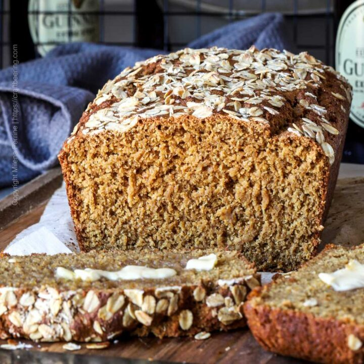 Brown bread with Guinness and oats, the Irish way.