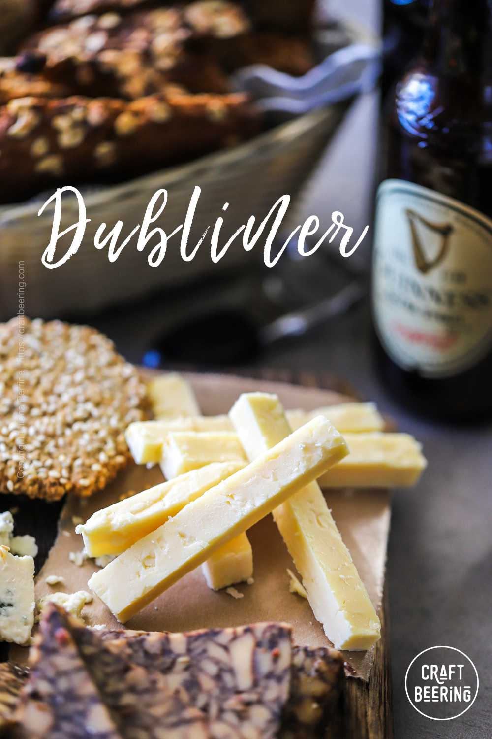 Dubliner - and Irish hard cheese from cow's milk with a firm and smooth texture and sharp, simultaneously nutty and sweet flavor.