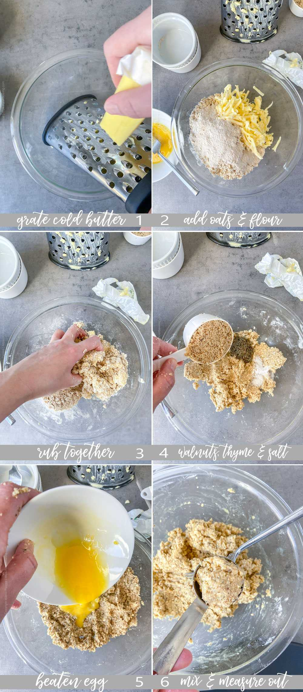 Step by step make oatcakes from scratch. Perfect for cheese boards.