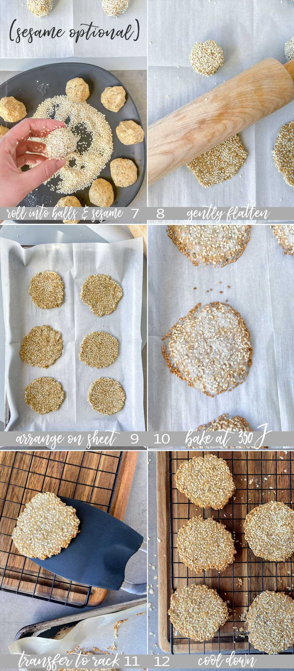 How to make oatcakes, steps by step. Part 2 collage.