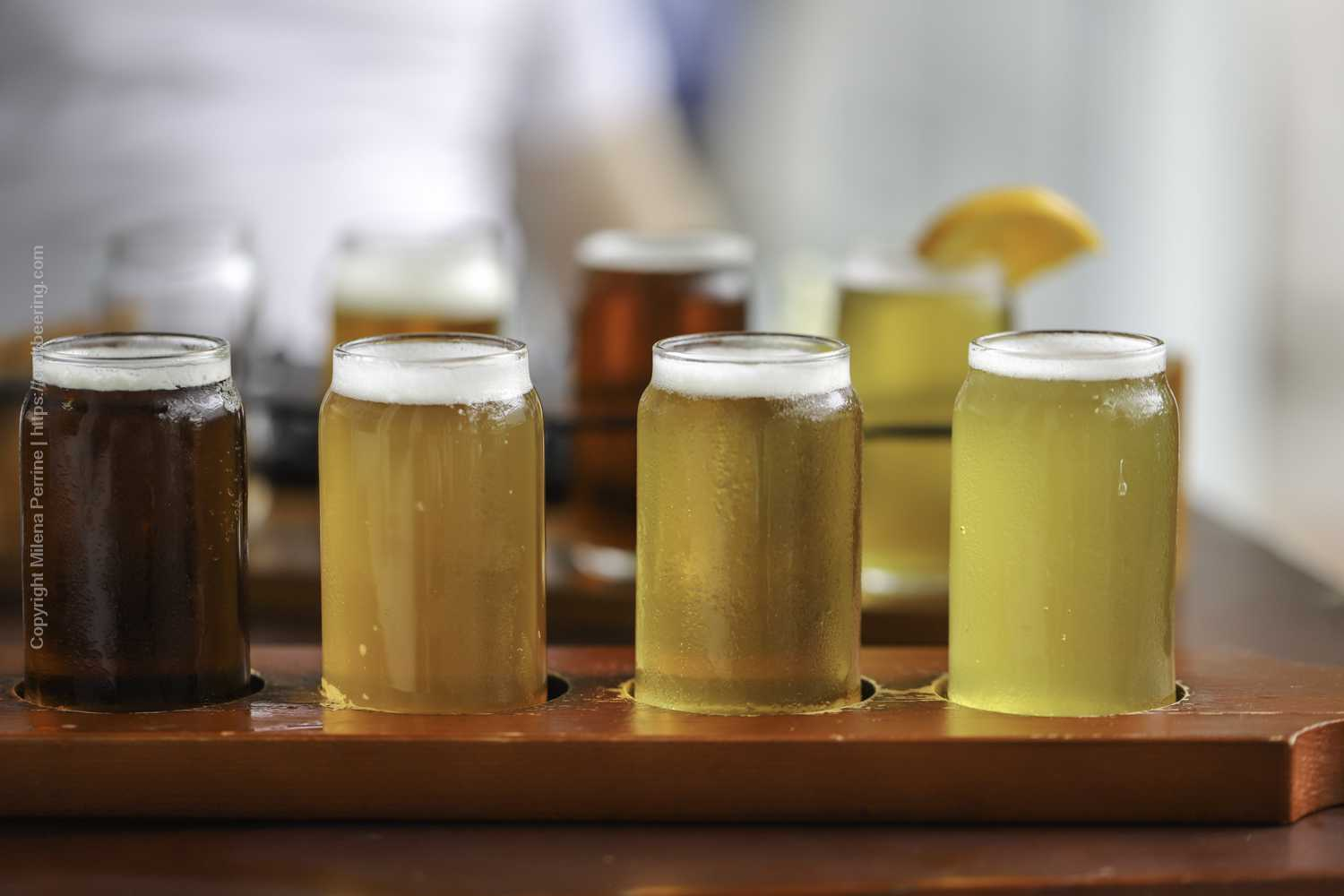 Beer flight at the SOuthernmost Brewery in the US, First Flight in Key West, FL