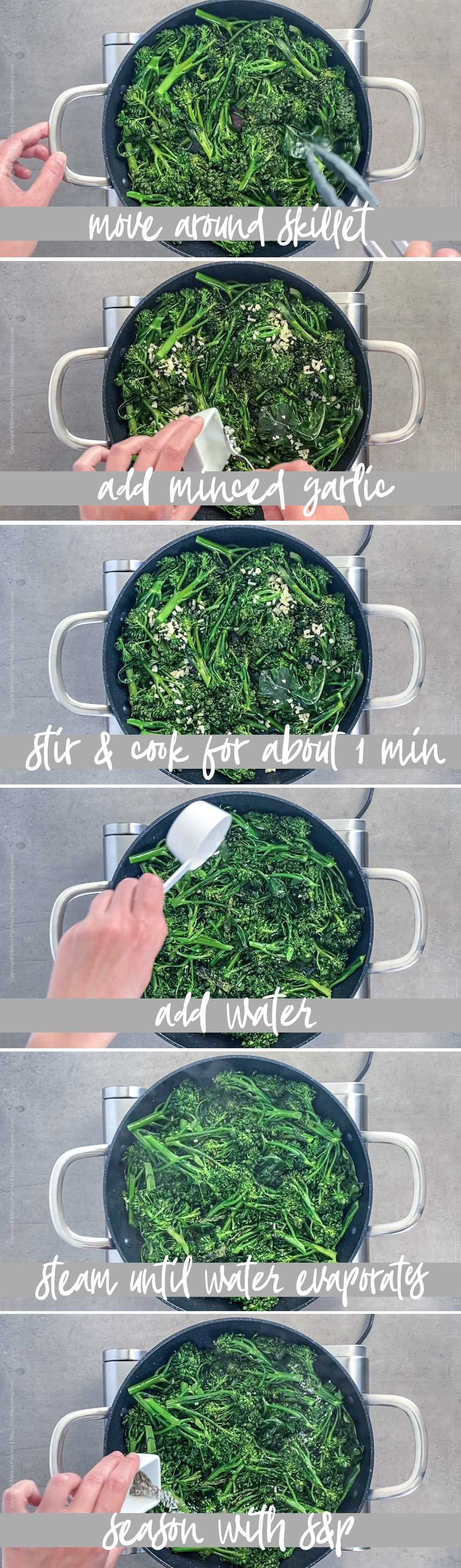How to cook broccolini in a pan (steam fry technique) - part 2