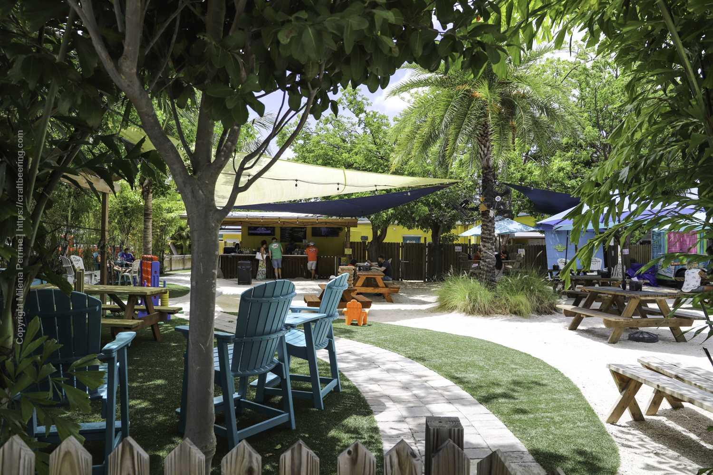 Beer Garden at Islamorada Brewery in the Florida Keys.