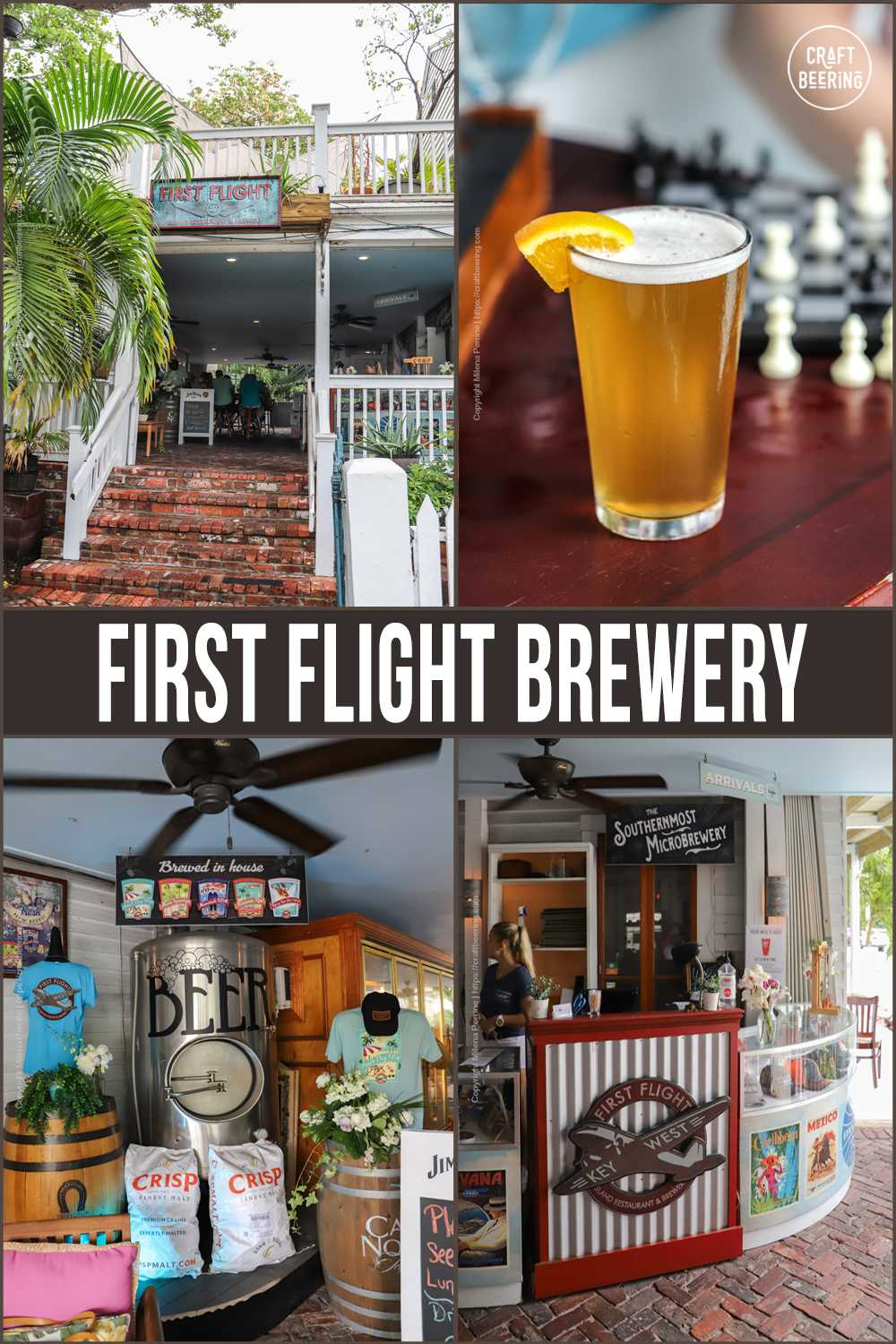 Picture Collage First Flight Brewery in Key West, FL