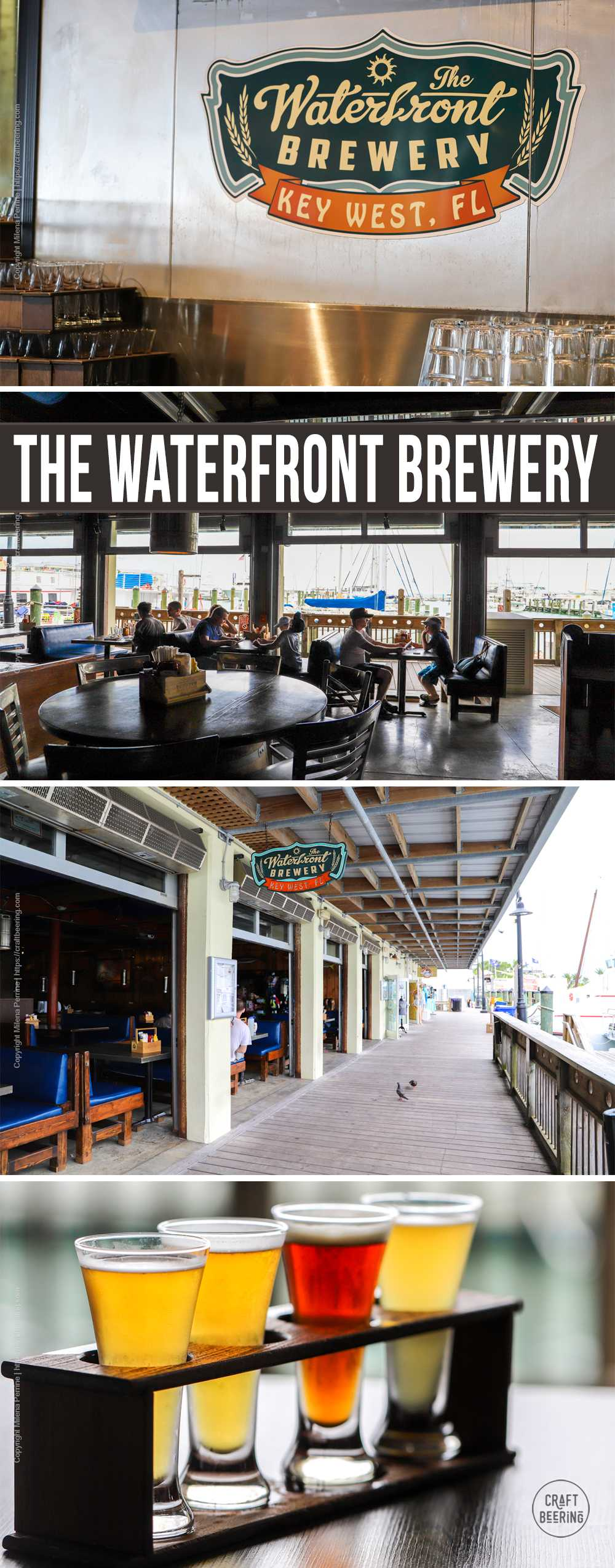 Picture collage Waterfron Brewery in Key West