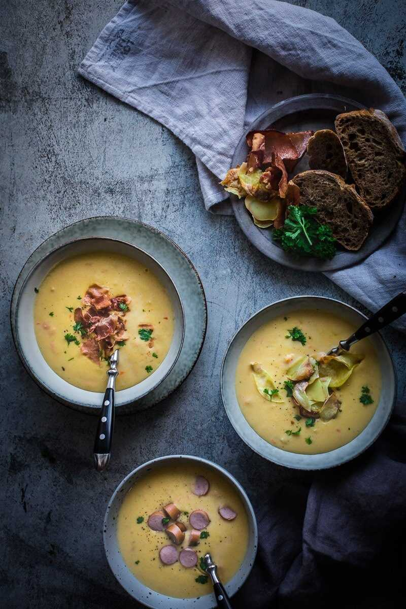 Kartoffelsuppe, German potato soup