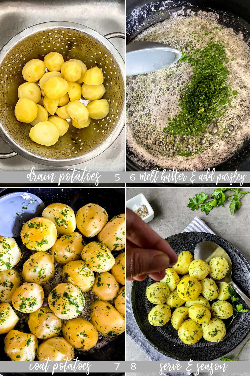 How to boil potatoes with parsley sauce - steps, part two