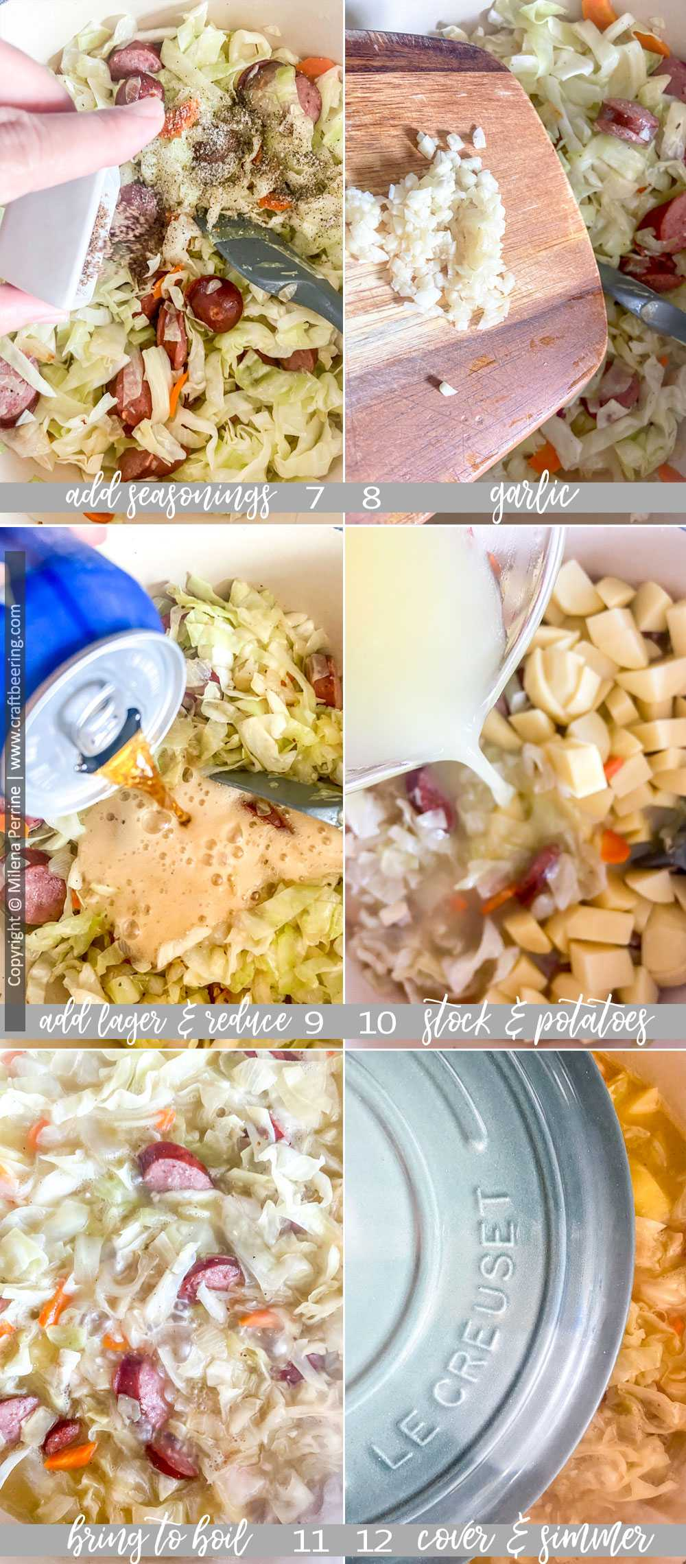 Step by step cabbage stew recipe - part 2