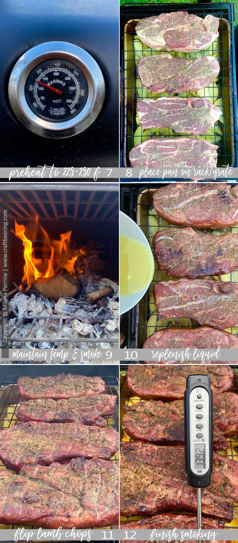 Step by step how to smoke lamb loin chops or lamb shoulder chops. Part 2.